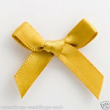 3cm Pre Tied Satin Bows - 100 Pack - Cards Favours Crafts Embellishment