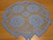 Tischdecken Hardanger Handarbeits Rund 2 Deckchen ca.40x40cm.