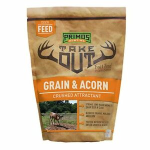 PRIMOS HUNTING: TAKE OUT - GRAIN AND ACORN - CRUSHED ATTRACTANT - NEW