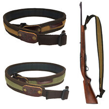 Waxed Canvas Rifle Sling with 1inch Swivels Shotgun Straps Shooting Hunting UK