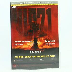 U-571 (DVD, Region 4) Movie Good Condition Free Tracked Post AU