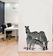 Zebras Safari African Horse Wall Art Kitchen Bedroom Kids Sticker Decal