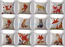 US SELLER-10pcs decorative pillow covers wholesale cushion covers cartoon fox