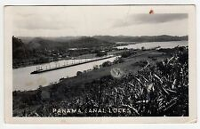 PANAMA CANAL LOCKS RPPC Real Photo Postcard BALBOA Gatun MIRAFLORES City LOCK
