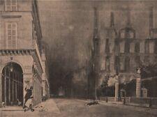 PARIS COMMUNE 1871. Rue de Rivoli, matinée du 24 Mai. Léon y Escosura c1873