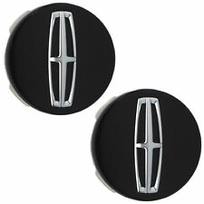 "OEM NEW Wheel Center Cap Set (2) 18"" Black Chrome MKZ Continental MKX DP5Z1130A"