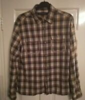 Men's French Connection Plaid Check Shirt Size XL Long Sleeve Cotton