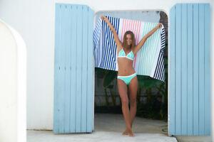 Gelati Stripe Vanuatu  Egyptian Cotton Velour Beach Towels