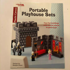 Leisure Arts Portable Playhouse Sets - 4 Designs Plastic Canvas Patterns Book