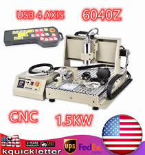 New Listingusb 4axis Cnc 6040z Router Engraving Wood Drillmilling Machinecontroller 15kw