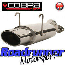 "HN12 Cobra Civic Type R EP3 Back Box Stainless Rear Silencer Exhaust 6x4"" Oval"