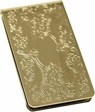 Gold Vintage Victorian Scroll Stainless Steel Boxed Money Clip