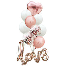 Rose Gold Love Balloons Wedding Hen Party Engagement Valentine Propose Decors