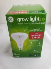 = GE Grow Light LED BR30 Medium Base 9W Red Light Spectrum For Fruit Flowers