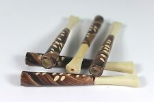 Ukrainian Handmade 5 Mini Wooden Smoking Tobacco Pipes Cigarette Filters Holders