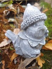 """Latex bird with acorn hat mold plaster concrete cement mould 2.75""""H x 1.75""""W"""