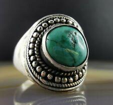 Zeitloser hübscher Türkis Ring Ethno 925 Silber 21 mm