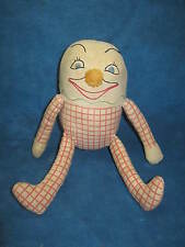 Vintage HUMPTY DUMPTY Stuffed Cloth Shelf Sitter Doll/Toy, Embroidered...RARE!