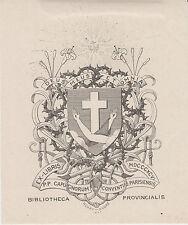 EX-LIBRIS du COUVENT des CAPUCINS de Paris par HENRY-ANDRÉ (1896).