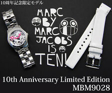 New Marc By Marc Jacobs 10th Anniversary WoMen Watch Set Silver White MBM9028