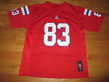 Reebok WES WELKER No. 83 NEW ENGLAND PATRIOTS (Youth XL) Jersey RED