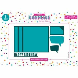 Made To Surprise Die Set 6in x 6in Square Pop-Up Wiper Card   Wonderful Wipers