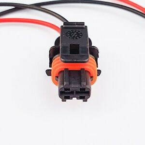 2 Pin Pre-Wired Diesel Injector Connector Injector Plug for Bosch. 1928404072-NG