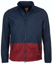 Barbour Men's Bollen Casual Jacket Blue Red XL NWT