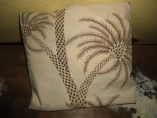 """MARTEX OASIS PALM TREES BROWN TAN TROPICAL FULL FITTED SHEET 7"""" POCKETS"""