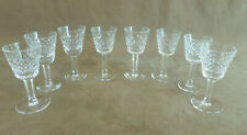 """Vintage Waterford """"Alana"""" Pattern Irish Crystal Cordial Glasses 3.5"""" H Excellent"""