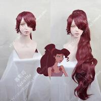 Princess Megara Cosplay Wig Hercules Meg Long Red Halloween Hair Synthetic Hair