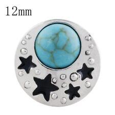 Click Button Mini Petite 5204 Türkis Sterne  - kompatibel nur Chunk-System 12mm