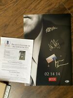 House Of Cards Autographed Poster Netflix Kevin Spacey Robin Wright