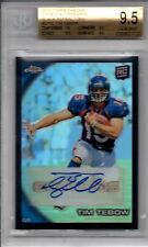 2010 Topps Chrome Black Refractor Auto RC TIM TEBOW /25 BGS 9.5 with 10 Auto