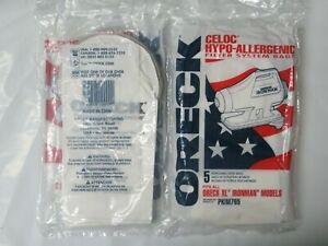 10 Genuine Oreck XL Ironman Vacuum Bags Part PKIM765 Hypo-Allergenic Vac Filter