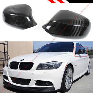 FOR 2009-2011 BMW E90 LCI 3 SERIES 335i 325i SEDAN CARBON FIBER MIRROR COVER CAP