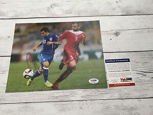Sebastian Giovinco Signed Italy Italia 8x10 Photo PSA/DNA COA Autographed f