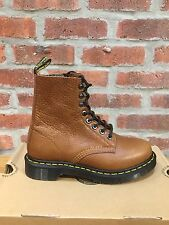 DR. MARTENS 1460  TAN BRUN CLAIR ZIPPED NATURESSE  LEATHER  BOOTS SIZE UK 7