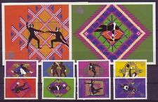 Echte Briefmarken aus Asien mit Olympische Spiele-Motiv
