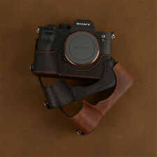 Leather Half Case for Sony A7R4 A7RM4 A9M2 Camera Handmade Retro Style Cover New