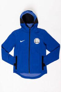 Women's Nike NBA Golden State Warriors Showtime Hoodie [A02044-495/Small]