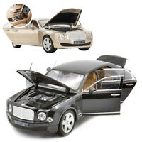 1:18 Bentley Mulsanne Diecast Metal Model Openable Doors Vehicle Car Box