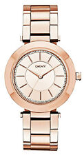 NWT DKNY Women's Watch NY2287 Rose Gold Tone Stainless Steel Stanhope $175