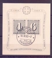 Schweiz Briefmarken 1943 - Block 8 gestempelt Tagesstempel- Michel 65,00 € (794)