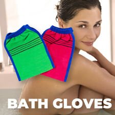 Shower Spa Exfoliator Dead Skin Removal Face Body Cleaning Bath Glove Scrub Mitt