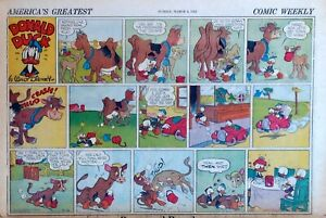Donald Duck by Al Taliaferro - half-page color Sunday comic - March 8, 1942