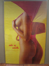Vintage 1987 Under My Umbrella poster hot girl man cave car garage 3688