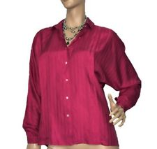 LES COPAINS SIZE 1 VINTAGE STYLE SILK SHIRT  MADE IN ITALY