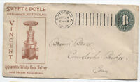 1904 Cohoes NY Doremus machine on valve ad cover [4328]