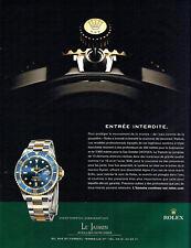 Publicité Advertising 127  2009  Rolex  montre  oyster perpetual  submarine date